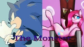 sonic-and-pinkamena-the-monster