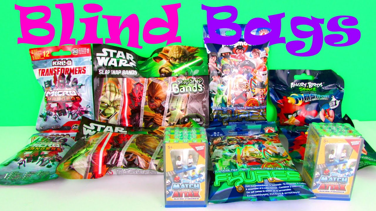 Super Surprise Blind Bag Toys Opening With Angry Birds