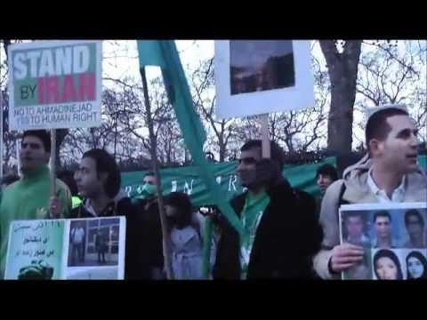 London 14 Feb 2011 Green movement Protest