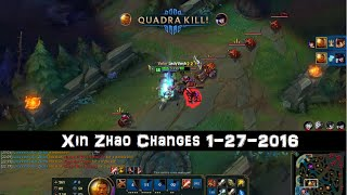 [PBE] Xin Zhao Changes 1-27-2016