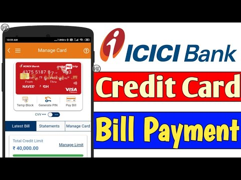 How To Pay Icici Credit Card Bill Online | How To Pay Icici Credit Card Bill Through IMobile App