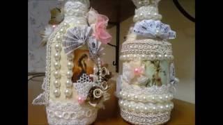 Mais de 100 ideias de decoração Shabby Chic – Vintage em Embalagens de Vidro