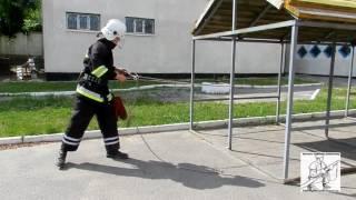 Закрепление спасательной веревки за конструкцию 3 способ
