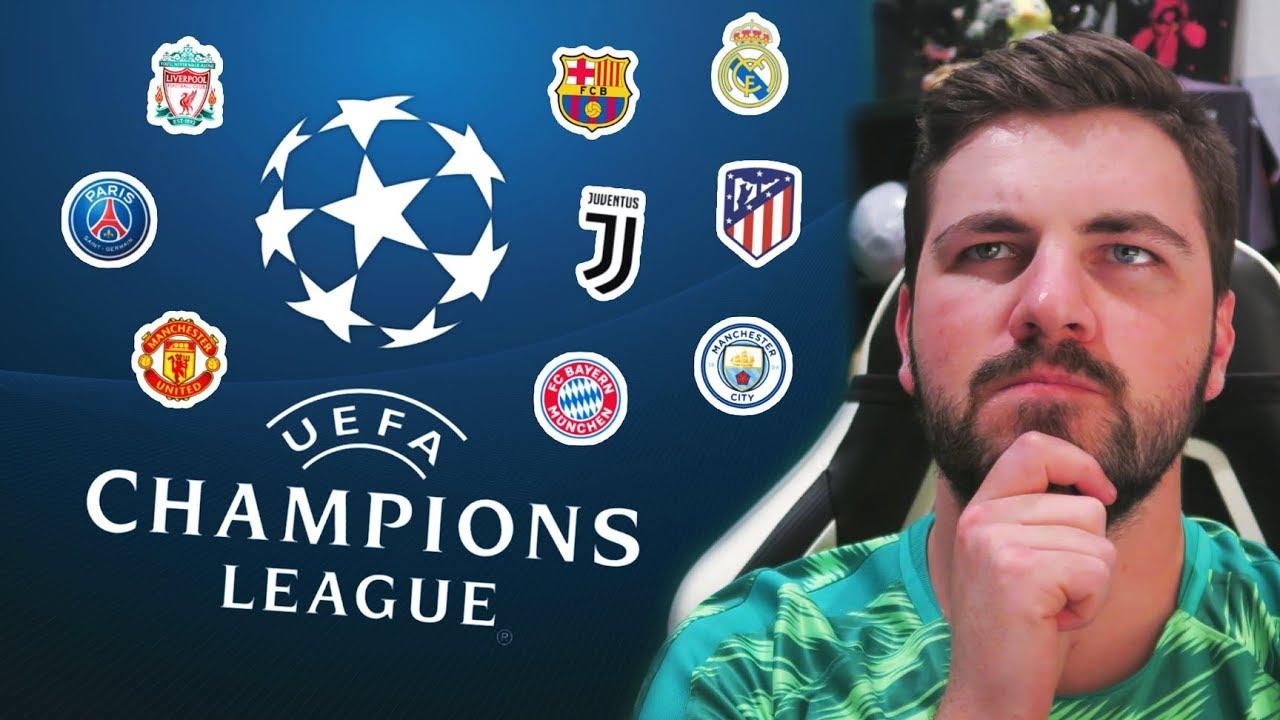 2018/2019 CHAMPIONS LEAGUE PREDICTIONS!!!