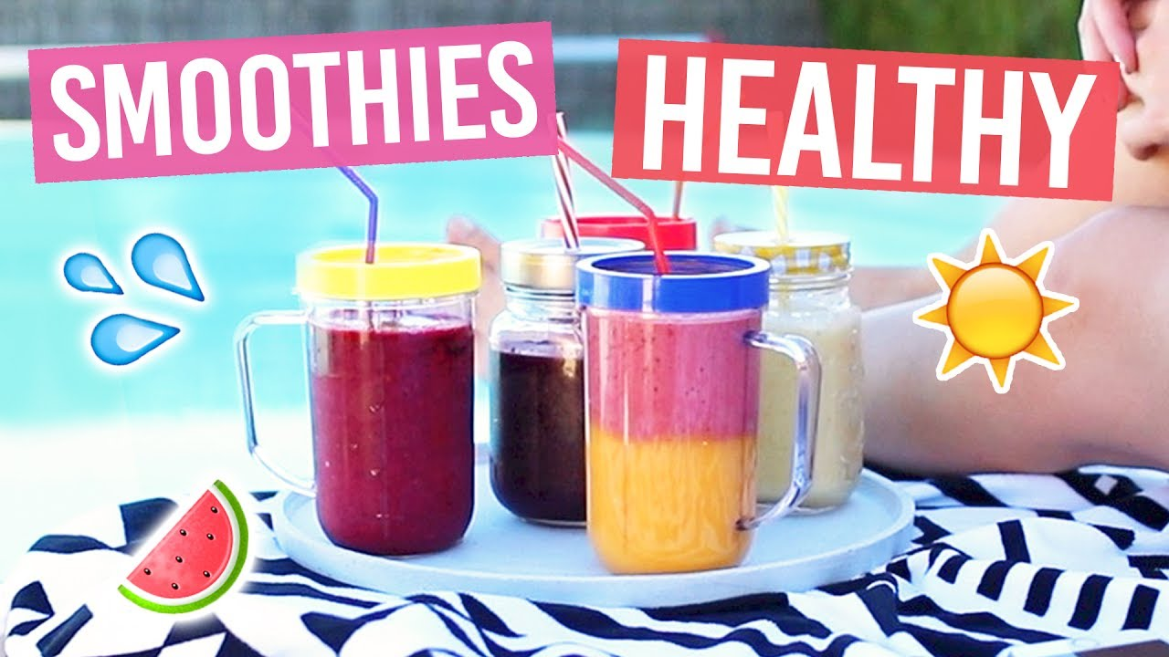 5 recettes de smoothies detox et healthy pour l 39 t youtube. Black Bedroom Furniture Sets. Home Design Ideas