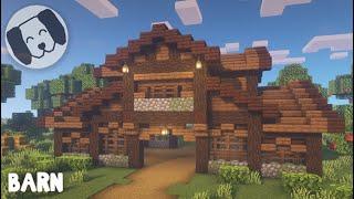 Minecraft: Barn Tutorial!!