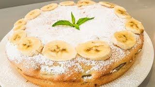 Очень Простой и Вкусный Пирог к чаю / Шарлотка с Бананами /Лёгкий Рецепт.