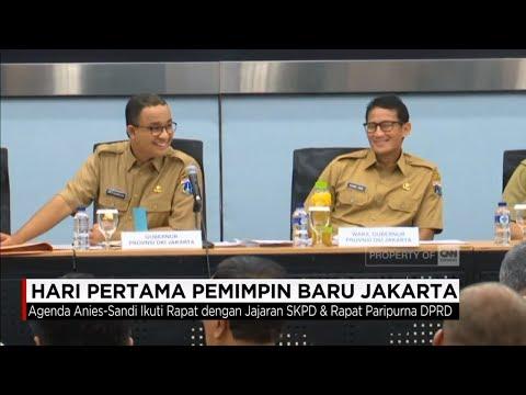 Hari Pertama Pemimpin Baru Jakarta - Gubernur Anies Baswedan