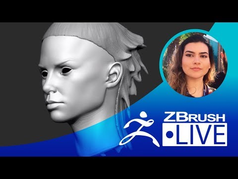 Digitally sculpting Yolandi from Die Antwoord - Ana Carolina Pereira's ZBrushLIVE Episode 7
