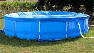 видео Как установить надувной бассейн на даче?