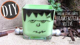 Frankenstein Halloween Votive   Dollar Store Crafts   Craft Klatch