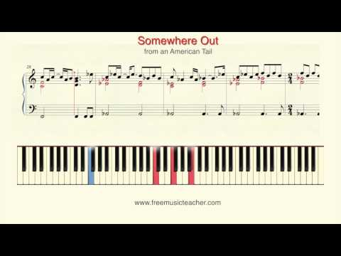 "How To Play Piano: ""Somewhere Out There"" from an American Tail Piano Tutorial by Ramin Yousefi"