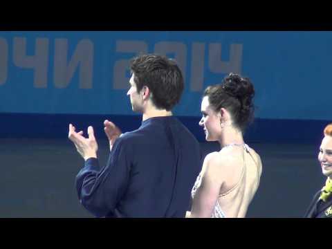 Sochi 2014 Tessa Virtue - Scott Moir Medal ceremony (focus on, fan video) 00027