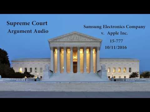 Samsung Electronics Co v. Apple Inc. Oral Arguments - Supreme Court