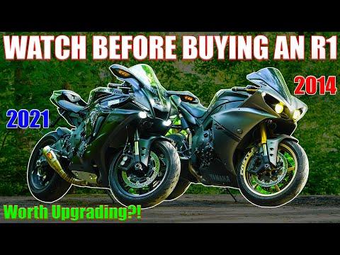 Download 2021 Yamaha R1 vs 2014 R1 RACE | Cops, Liter Bike Shootout ft Suzuki Hyabusa, GSX-R 750 & CBR 600RR