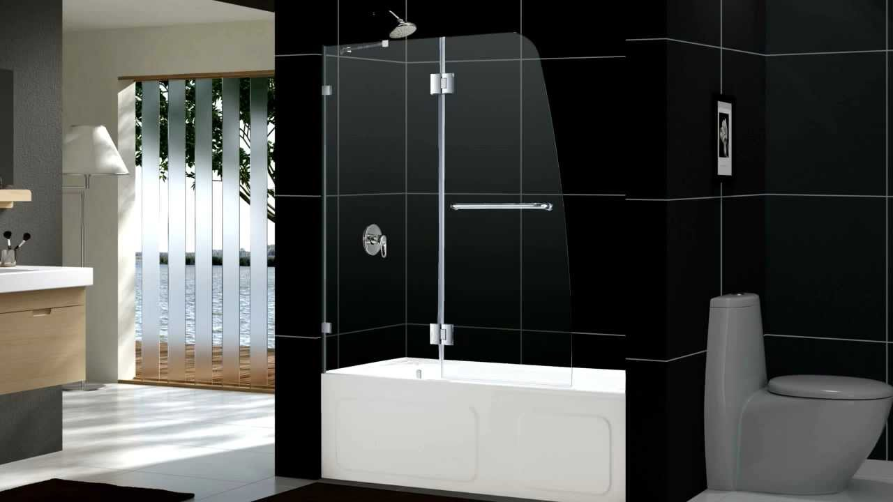 DREAMLINE AQUA LUX SHOWER DOOR AND AQUA LUX TUB DOOR - YouTube