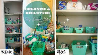 CLEAN WITH ME 2017// ORGANIZE AND DECLUTTER // DOLLAR TREE LINEN CLOSET ORGANIZATION