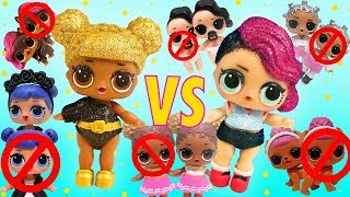 LOL Surprise Dolls Play A Fun Game with Songs! Featuring Sugar Queen and Glitter Series Queen Bee!