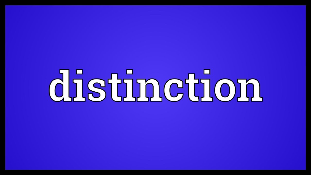 Distinction mark meaning in hindi