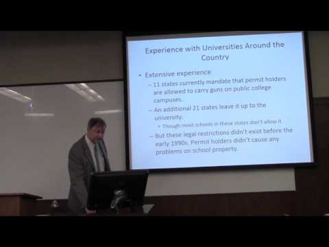 """University of Texas at Austin Debate on """"Campus Carry: Good Policy? How to Regulate?"""""""