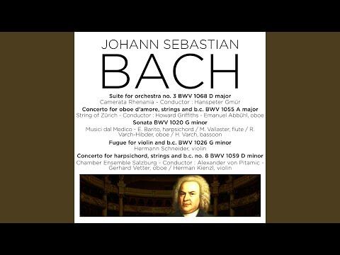 Violin Sonata In G Minor, BWV 1020: II. Adagio