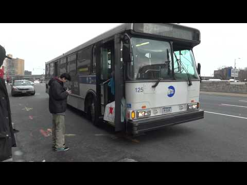 Mta Bus Q29 Bus Orion 5 Cng Turning Onto Woodhaven Blvd