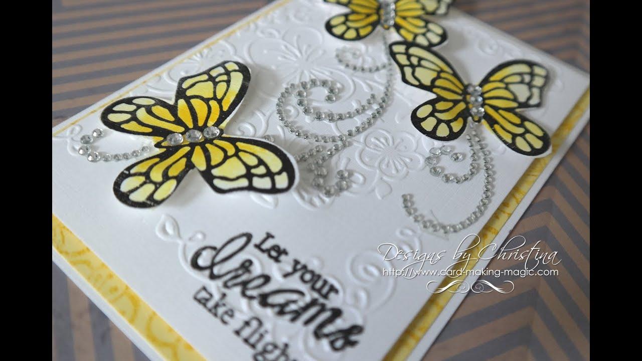 Papercraft Floral Flutter Dies & Stamps Card 2