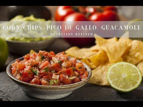 Raw Corn Chips, Pico de Gallo, Guacamole | Vegan, Gluten-Free