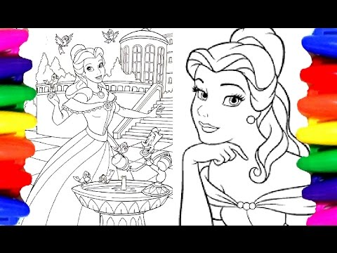 Disney Princess Belle Beauty And The Beast Coloring Book Pages For