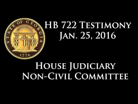 Dr. Cynthia Wetmore testifies at 1/25/16 Hearing on HB 722 to expand Georgia's Medical Cannabis Code