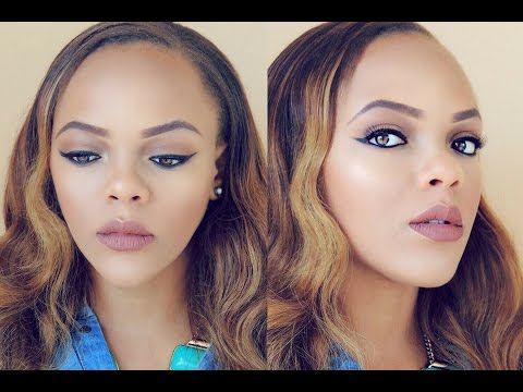 easy everyday nude brown makeup tutorial  beginner