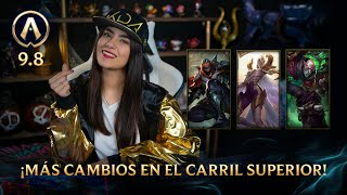 [Versión 9.8] Actualizando: ¡Más cambios en el carril superior!| League of Legends