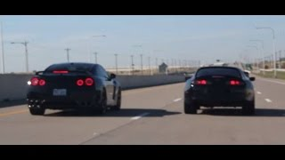 CRAZY TOYOTA SUPRA VS GTR R35 VS BIKE - HIGHWAY RACE