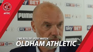 Uwe Rosler on Oldham Athletic draw | Post Match