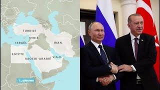 Erdogan en Poetin bespreken toekomst Syrië