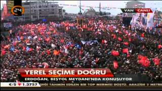 Ak Parti Van Mitingi Erdoğan'ın Sesi Kısıldı