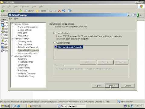 Sysprep VM Part 2 - Windows Server 2003