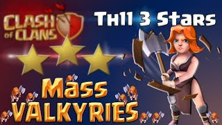 Clash of Clans | TH11 Attack Strategy - Mass Valkyries 3 Star in Clash of Clans