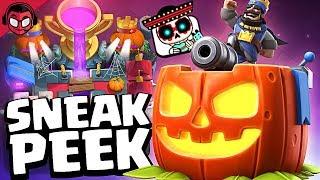 ¡¡LAS MEJORES SKINS Y EMOTES QUE METIERON NUNCA POR HALLOWEEN!! Season 4 | Sneak Peek | Clash Royale