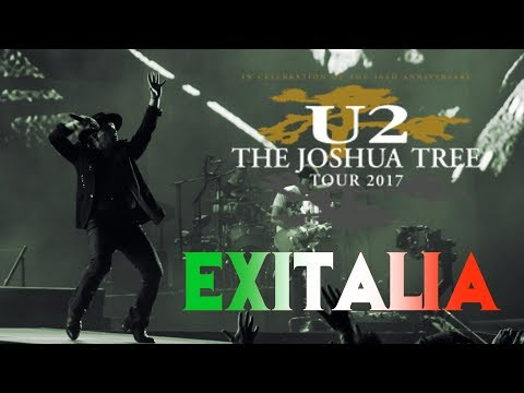 U2 Playing EXIT In ITALY (MULTICAM - HD)