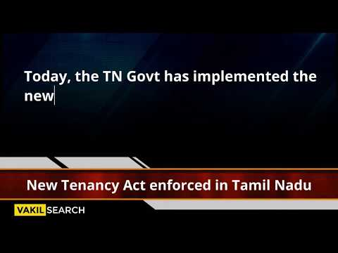 New Tenancy Law in Tamil Nadu – Here's how it is different
