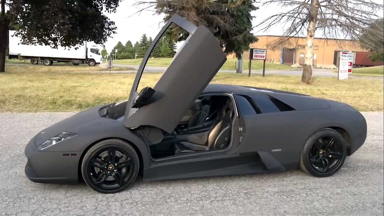Restyle It Restyleit Ca Lamborghini Murcielago Matte Black Wrap