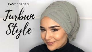 Eid Turban Style I Occasional Tutorial I Striped I Folded I Kat kat Türban Modeli
