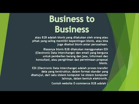 B2B (Busines To Busines)