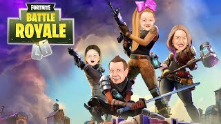 FORTNITE IN REAL LIFE in Huge Box Fort!!! Nerf War Boys vs Girls Battle Royale!
