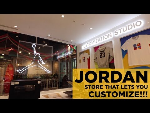 THIS SPECIAL JORDAN STORE IN TAIWAN ALLOWS YOU TO CUSTOMIZE WHAT YOU BUY!