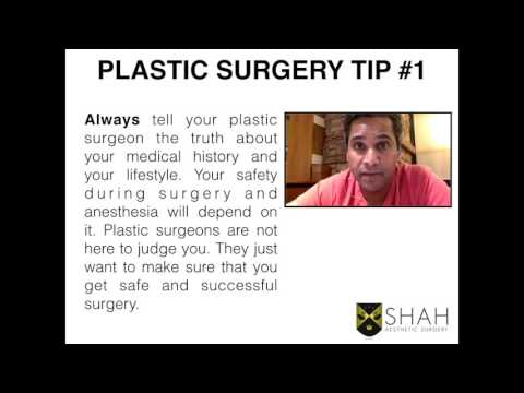 Plastic Surgery Tip #1