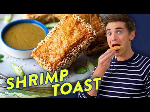 The BEST Crispy Fried Shrimp Toast Recipe! CLICK PLATE