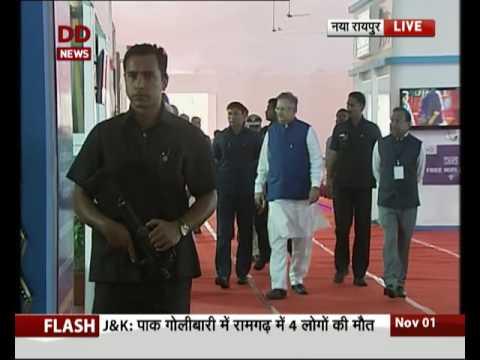 PM Modi Inspects 'Hammar Chhattisgarh Pavilion' in Naya Raipur
