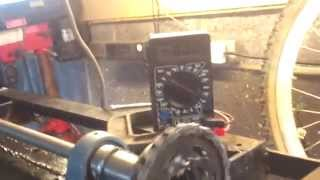 Diy Wind Turbine Generator Assembly 50 Volts From Bench Test